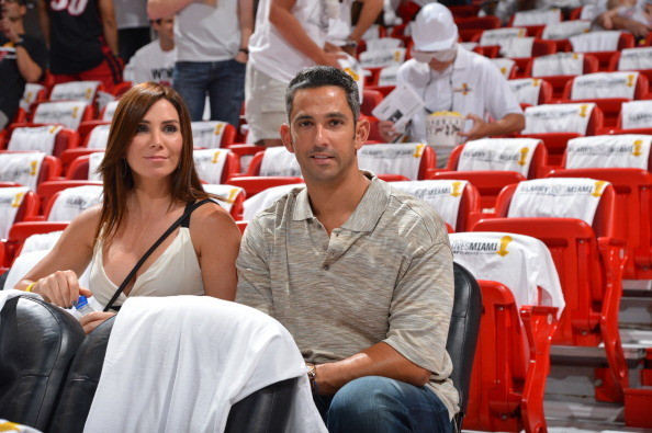 Celebs spotted at Miami Heat games - New York Yankees Legend Jorge Posada