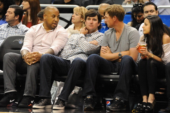 Celebs spotted at Miami Heat games - Bubba Watson