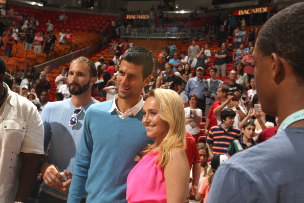 Celebs spotted at Miami Heat games - Hayden Panettiere