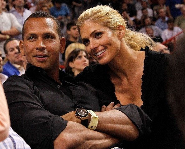 Celebs spotted at Miami Heat games - Alex Rodriguez