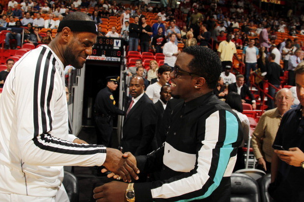 Celebs spotted at Miami Heat games - Diddy
