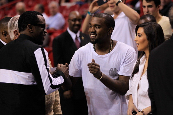 Celebs spotted at Miami Heat games - Sean P. Diddy Combs, Kanye West and Kim Kardashian