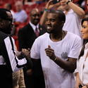 Sean P. Diddy Combs, Kanye West and Kim Kardashian
