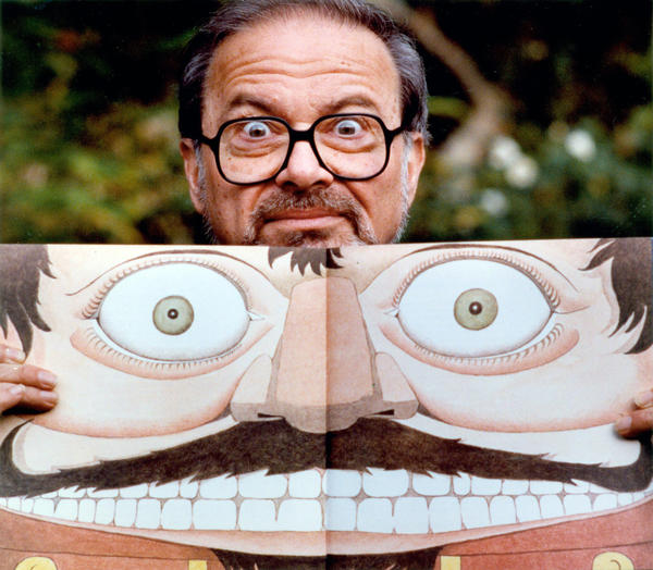 Author and illustrator Maurice Sendak with a self-portrait. He would've been 85 today.