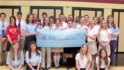 Students from St. Benedict held many fundraisers for a kitchen renovation project.