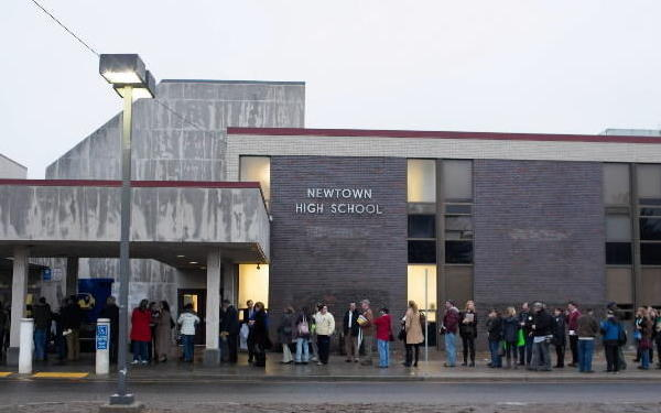 Newtown High School was in a soft lockdown Monday afternoon. Photo taken in January.