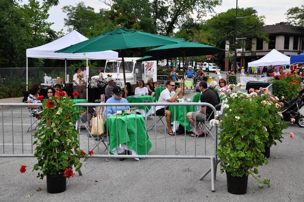"Last year's ""Let Loose on Lincoln"" block party and sidewalk sale in Winnetka included a wine and beer tent."