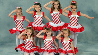 Tap students at Sharons Dance Studio performed Good Ship Lollipop at a recital to commemorate the studios 50th anniversary June 1 and 2. Pictured in the back row are: Alexa Gardenhour, Ella McKee, Jessica Shauley and Madison Tompkins. In front are: Abigail Bosserman, Kaci Noon and Maddy Glessner.