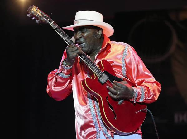 "Eddy ""The Chief"" Clearwater performs with Chicago Blues Old School, New Millennium."