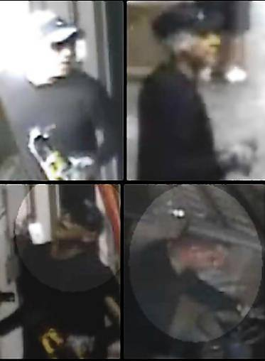 Images of the men who, authorities say, broke into a Hollywood warehouse owned by the Seminole Tribe of Florida, stealing electronics and hundreds of cases of premium liquor.