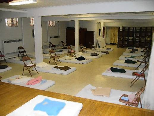 The PADS homeless shelter in North Chicago, one of the organizations with which Christ Church works.
