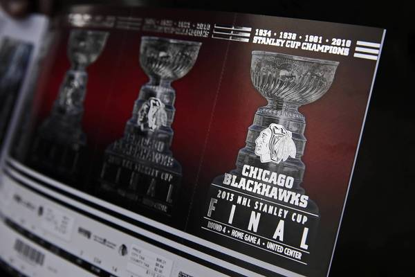 Tommy Lentine's 2013 Stanley Cup Final tickets.