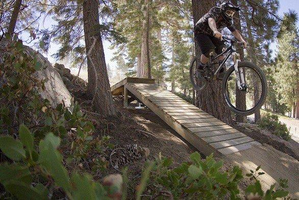 One of the trails at the Snow Summit Adventure Park in Big Bear Lake. The park opens daily for summer on Saturday.
