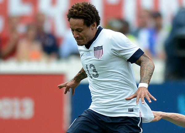 Jermaine Jones (13) will miss the World Cup qualifier with a concussion.