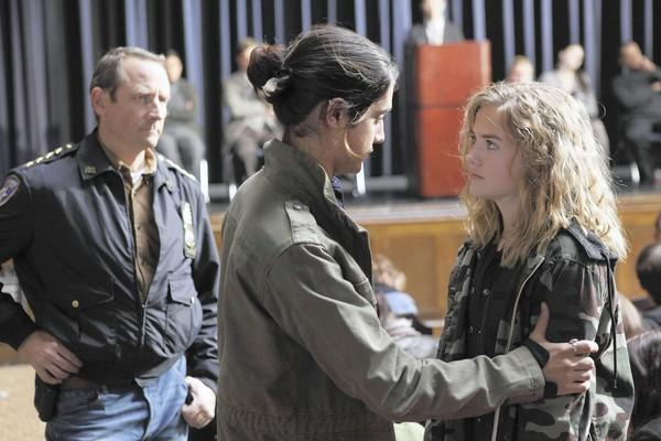 "Sam Robards, left, Avan Jogia and Maddie Hasson star in ""Twisted."""