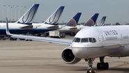 United Airlines said its traffic fell about 1 percent overall last month after several months of improvement.