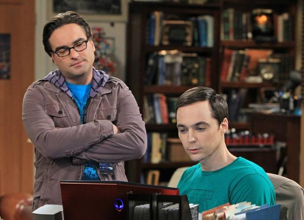 """Johnny Galecki, left, and Jim Parsons in """"The Big Bang Theory."""""""