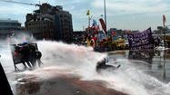 ISTANBUL, Turkey – Turkish Prime Minister Recep Tayyip Erdogan warned Tuesday that his tolerance for nationwide street protests was at an end, as riot police clashed with demonstrators who have occupied Istanbul's Taksim Square for nearly two weeks.