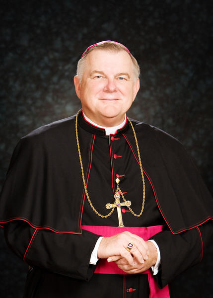 """Archbishop Thomas Wenski was born in West Palm Beach on October 18, 1950 and grew up in Lake Worth, where he attended Catholic school at his home parish, Sacred Heart. He studied at St. John Vianney Minor Seminary in Miami and later at St. Vincent de Paul Major Seminary in Boynton Beach and was ordained a priest of the Archdiocese of Miami on May 15, 1976. He earned a Bachelor of Arts Degree in Philosophy (1972) and Master of Divinity (1975) from the Boynton Beach seminary; and in 1993 a Master of Arts in Sociology from Fordham University in New York. As a priest, Father Wenski was known for his devoted support of the pastoral and spiritual needs of the Haitian community of South Florida. He served three years as associate pastor of Corpus Christi Church, a mainly Hispanic parish in Miami, until 1979, when he was sent to Haiti to learn Creole. Upon his return, he was assigned to the newly established Haitian Apostolate of the Archdiocese, first as associate director and later as director. Archbishop Wenski remains the only Florida native serving as a bishop in the state. Through the years, he served on a number of community and civic organizations, including Miami-Dade County's Homeless Trust, the Coordinating Council of Broward, the Florida Council on Homelessness and Gov. Jeb Bush's Task Force on Haiti. On April 20, 2010, Pope Benedict XVI appointed him the fourth Archbishop of Miami and Metropolitan of the Province of Miami (which includes the seven dioceses of the State of Florida). The installation Mass took place June 1, 2010.  In addition to English, Archbishop Wenski is fluent in Haitian Creole and Spanish, and he speaks limited Polish. The archbishop's episcopal motto is """"Omnia Omnibus"""", which means """"all things to all men."""" The scriptural text is taken from St. Paul's letter to the Corinthians (9:22): """"I have become all things to all men, to save at least some."""""""