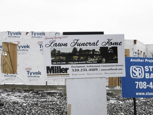 Lawn Funeral Home is celebrating its 50th anniversary by building a third location in Tinley Park. The funeral home was founded in Burbank in 1962 by Don Jarka Sr. A second location opened at 7732 W. 159th St. in Orland Park in 1987. Now a third location is under construction at 179th Street and 94th Avenue in Tinley Park.