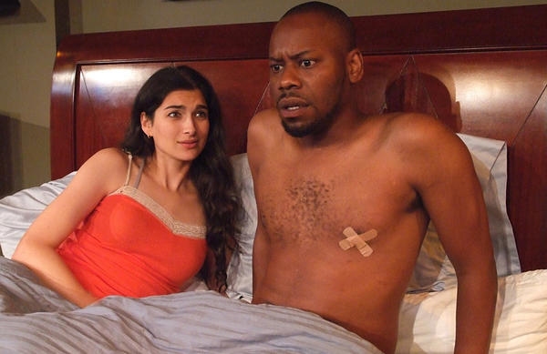 "Tiffany Lonsdale and Malcolm Barrett in ""The Boomerang Effect."""