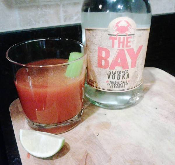 "The Bloody Marylander is made with ""The Bay"" vodka."