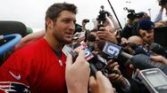 Tim Tebow Meets Media