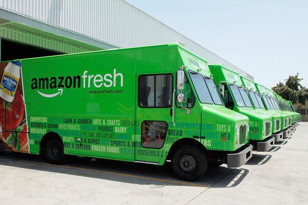 Amazon Fresh trucks are lined up and ready to serve. But what will you order?