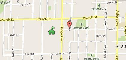 A man was reportedly attacked at Davis Street and Darrow Avenue, a short distance from Evanston Township High School.