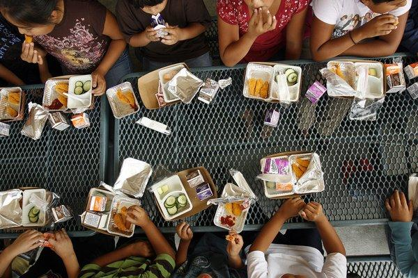 Free or reduced-price school lunches can be an important part of a child's nutritional program. But a new report raises concern about the summer vacation months, particularly across the Southwest, where New Mexico ranked as having the highest rates of childhood hunger and California came in 12th.