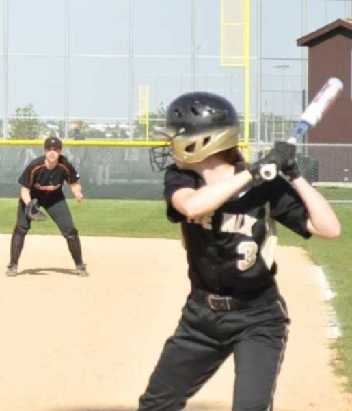 """Lincoln-Way North softball player Maddie Metzger is a """"defensive specialist,"""" according to her coach Aimee Lonigro."""