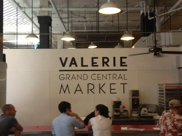 The lunch counter at Valerie, which opened at Grand Central Market on May 31.