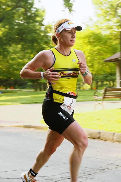 Naperville resident Jenny Garrison, 35, won the local triathlon for the second year in a row.