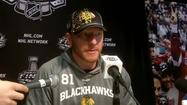 Video: Hossa on challenge of facing Bruins' goalie
