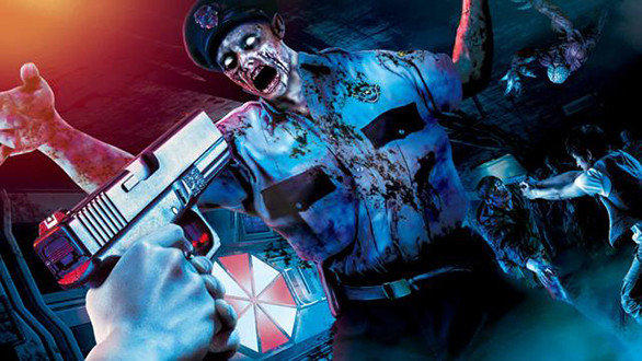 """""""Resident Evil: The Real"""" attraction at Universal Studios Japan."""