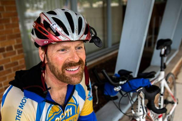 Greg Duffner, of Frankfort, and five friends leave Friday on a 3,800-mile cross-country bicycle trek from San Francisco to Washington, D.C., to fulfill a dream on his bucket list.