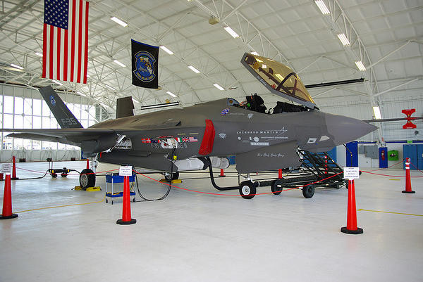First visit of the F-35 Lightning II to Eglin AFB Florida.