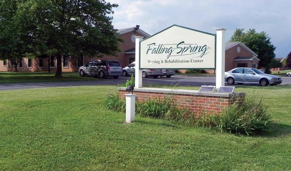 Franklin County, Pa., officials are looking to sell the county-owned Falling Spring Nursing and Rehabilitation Center on Franklin Farm Lane in Chambersburg, Pa.