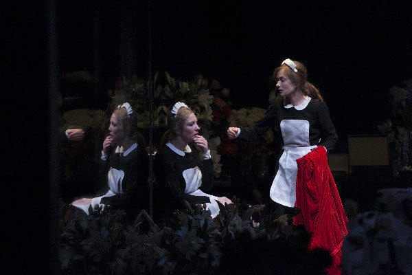 "Cate Blanchett, left, and Isabelle Huppert in a scene from Jean Genet's ""The Maids,"" at the Sydney Theatre Company in Australia."