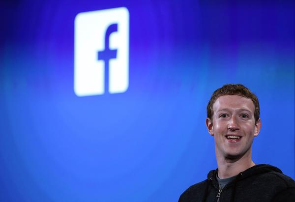 "Facebook CEO Mark Zuckerberg assured investors before the question-and-answer session began that ""we're disappointed with the performance of the stock over the last year."" Above, Zuckerberg speaks during an April 4 event at Facebook headquarters."