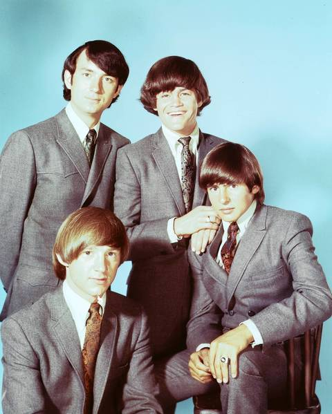 The Monkees in their heyday, circa 1965. Clockwise from top left, Mike Nesmith, Micky Dolenz, Davy Jones and Peter Tork.