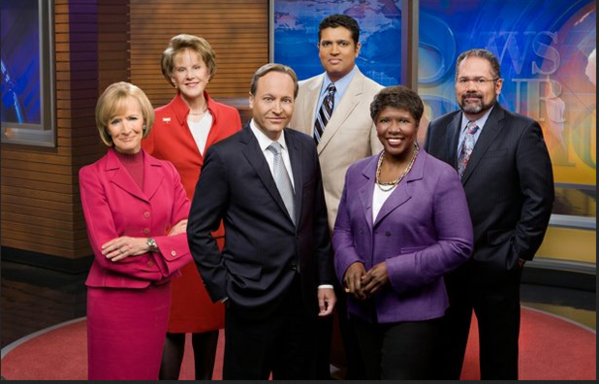 "The 'NewsHour"" team as it now exists in these downsized days for the broadcast."
