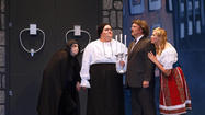 "As the first half of ""Young Frankenstein"" comes to a close, there's a monster on the loose."