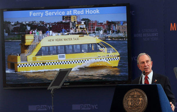 New York Mayor Michael Bloomberg, speaking at the Brooklyn Navy Yard on Tuesday, outlines plans to help the city prepare for climate change.