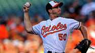 Orioles right-hander Miguel Gonzalez said there really is no time when it is not on his mind — even when he is on the mound, even when he is turning in what was arguably his best performance of the year in a 3-2 victory against the Los Angeles Angels on Tuesday night.