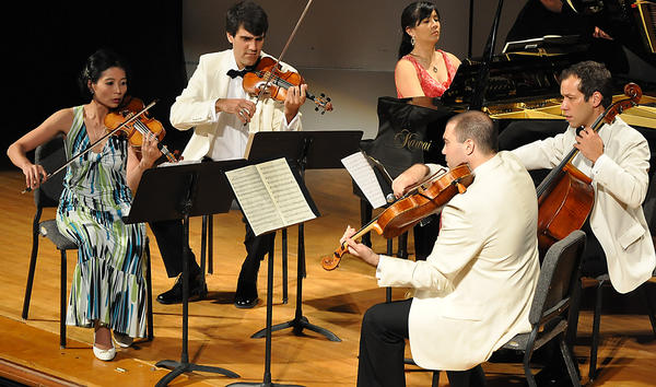 The Bay View String Quartet returns to the Bay View Music Festival this summer with three of four members from 2012.
