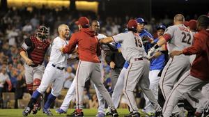 Watch the Dodgers-Diamondbacks brawl from Tuesday night