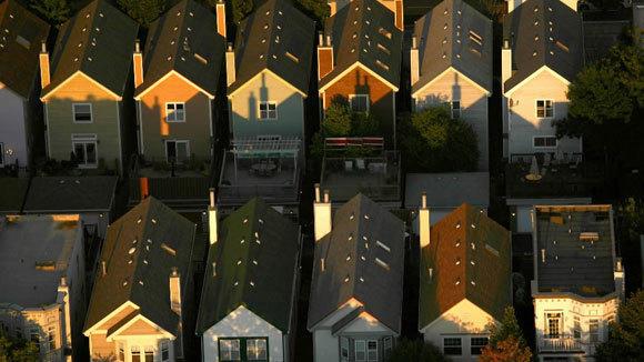 An aerial view of South Loop housing in 2008.