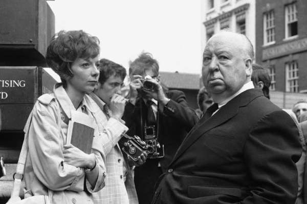 "Alfred Hitchcock's home movies and rarities will screen Saturday at the Silent Movie Theatre. The Master of Suspense is seen here with Anna Massey from 1972's ""Frenzy."""