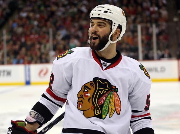 Chicago Blackhawks' Brandon Bollig.